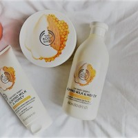 Review: The Body Shop Honey & Almond Milk range